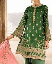 Dark Green Lawn Suit- Pakistani Lawn Dress