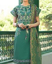 Emerald Green Lawn Suit- Pakistani Lawn Dress