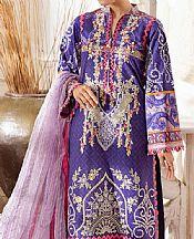 Indigo Lawn Suit- Pakistani Designer Lawn Dress