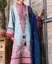 Baby Blue Khaddar Suit- Pakistani Winter Clothing