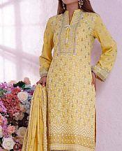Sand Gold Cambric Suit- Pakistani Designer Lawn Dress