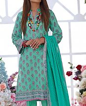 Sea Green Cambric Suit- Pakistani Designer Lawn Dress