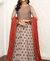 Beige Chiffon Suit- Pakistani Chiffon Dress