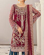 Crimson Net Suit- Pakistani Designer Chiffon Suit