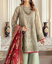 Pistachio Mesoori Suit- Pakistani Designer Chiffon Suit