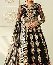 Black Net Suit- Pakistani Designer Chiffon Suit