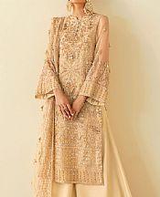 Fawn Organza Suit- Pakistani Chiffon Dress