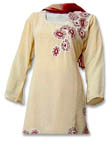 Cream/maroon Georgette Trouser Suit- Pakistani Casual Dress
