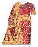Katan Silk Lehnga- Pakistani Bridal Dress