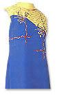 Blue/Yellow Chiffon Georgette Trouser Suit- Pakistani Casual Clothes