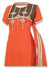 Orange/Brown Chiffon Trouser Suit- Pakistani Casual Clothes
