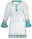 White Chiffon Trouser Suit- Pakistani Casual Clothes