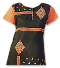Black/Orange Chiffon Trouser Suit- Pakistani Casual Dress