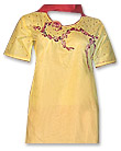 Yellow/Red Cotton Suit- Pakistani Casual Dress