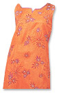 Orange Georgette Trouser Suit- Pakistani Casual Dress
