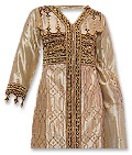 Golden Viscose Silk Suit