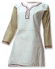 Off-white/Beige Khaddar Suit- Pakistani Casual Clothes