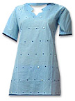 Sky Blue Cotton Suit- Pakistani Casual Dress