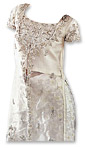 White Net Organza/Jamawar Suit