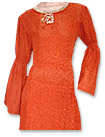 Red/Off-white Georgette Suit- Pakistani Casual Clothes