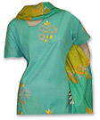 Sea Green/yellow Cotton Suit- Pakistani Casual Clothes