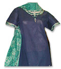 Dark Blue/Green Cotton Suit - Pakistani Casual Dress