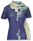 Dark Blue/Cream Cotton Suit- Pakistani Casual Dress