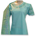 Sea Blue Cotton Suit - Pakistani Casual Clothes