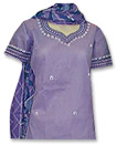 Purple Cotton Suit�- Pakistani Casual Dress