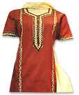 Red/Yellow Cotton Suit- Pakistani Casual Clothes