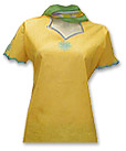 Yellow/Green Cotton Suit - Pakistani Casual Dress