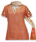 Orange Cotton Suit- Pakistani Casual Clothes