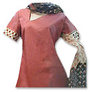 Rusty Red Cotton Suit- Pakistani Casual Clothes