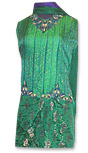 Green Pure Katan Silk Lehnga