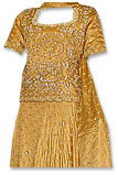 Mustard Jamawar Lehnga- Pakistani Bridal Dress