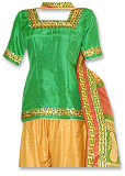 Yellow/Green Mehndi Gharara