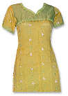 Yellow/Green Cotton Suit- Pakistani Casual Dress