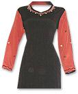 Rust/Black Georgette Trouser Suit- Pakistani Casual Clothes