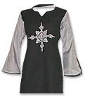 Black Khaddar Trouser Suit- Pakistani Casual Clothes