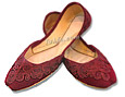 Ladies khussa- Maroon- Pakistani Khussa Shoes