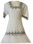 White Net Organza Lehnga- Pakistani Wedding Dress