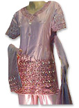 Tea Pink Satin Silk Sharara - Pakistani Wedding Dress